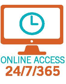 Online access 24/7/365