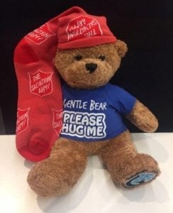 Gentle Bear helps Salvation Army provide support to domestic violence victims