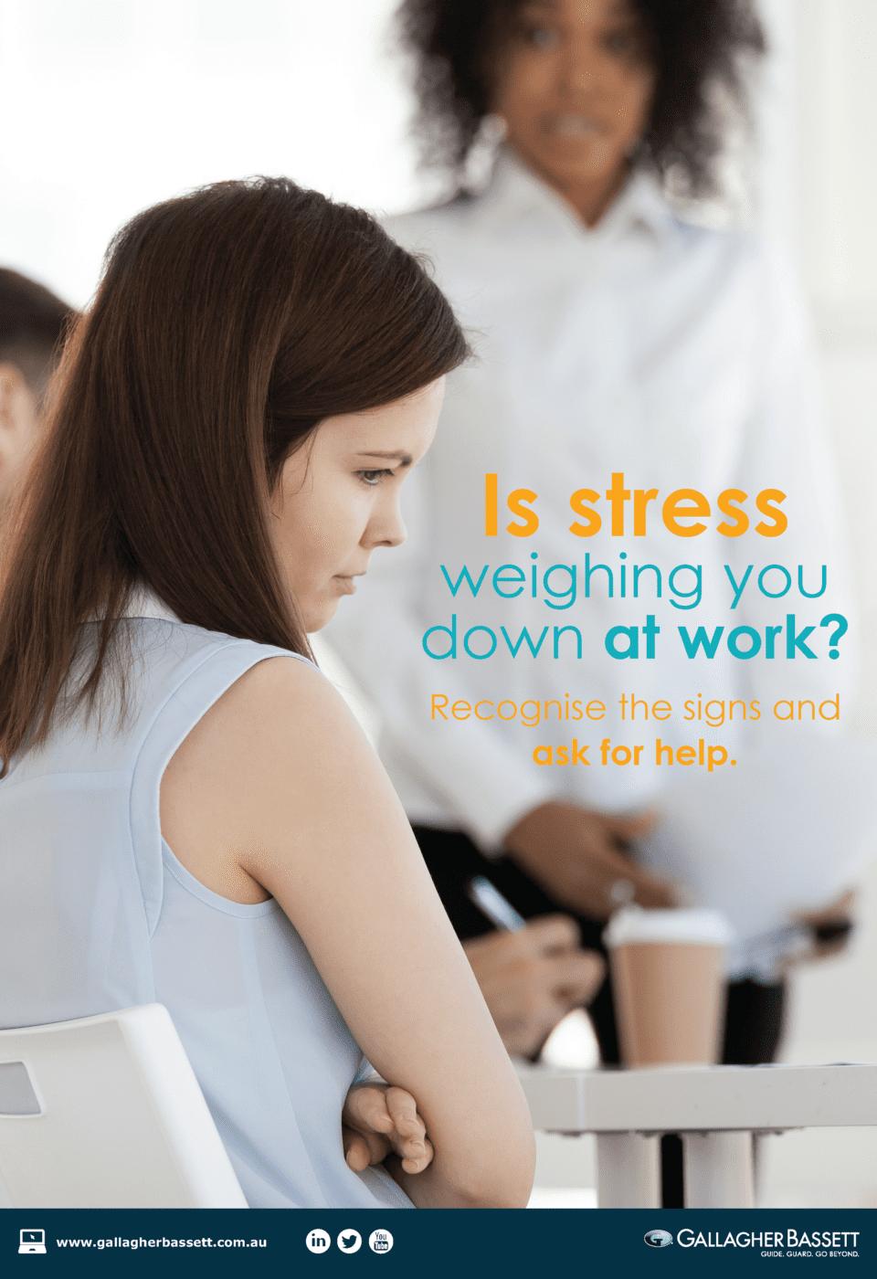 poster workplace stress gallagher bassett