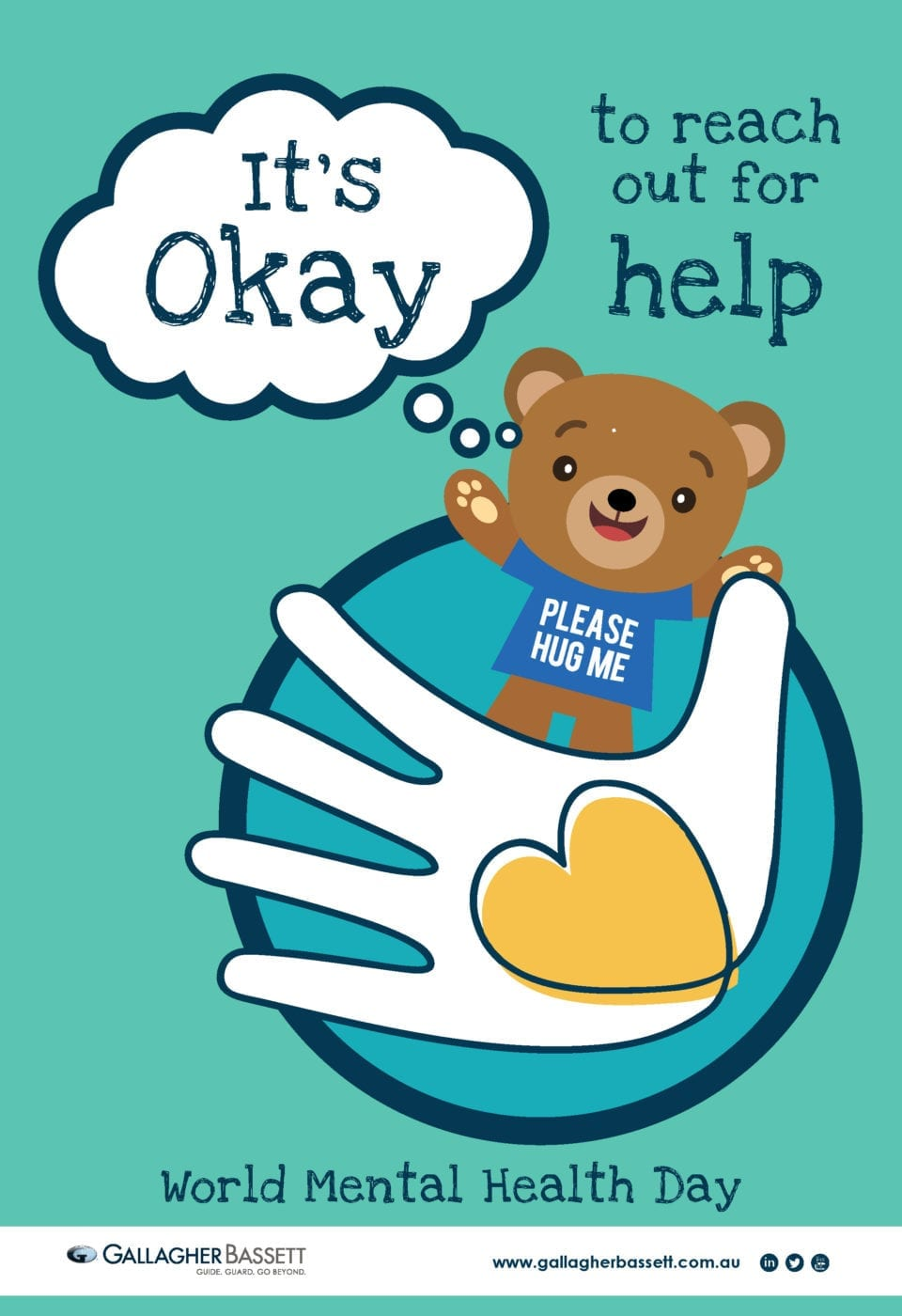 Poster - It's Okay to Reach Out for Help - Gallagher Bassett
